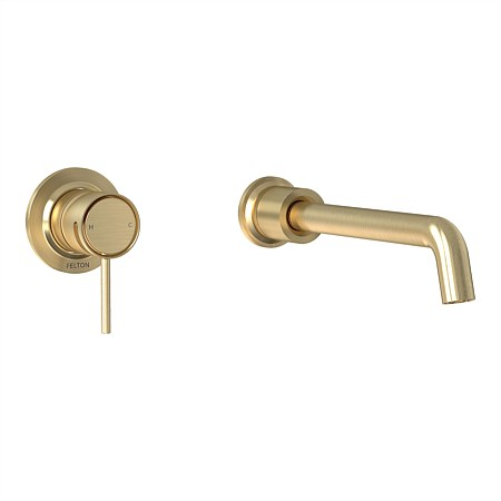Tate Wall Mounted Basin/Bath Mixer Brushed Gold