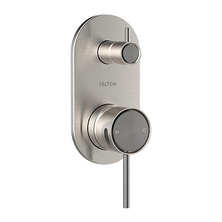 Tate Diverter Mixer Brushed Nickel/Brushed Gunmetal