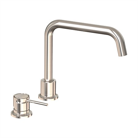 Tate Deck Mounted Sink Mixer Brushed Nickel
