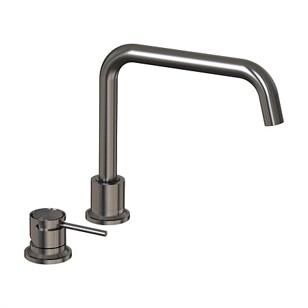 Tate Deck Mounted Sink Mixer Brushed Gunmetal