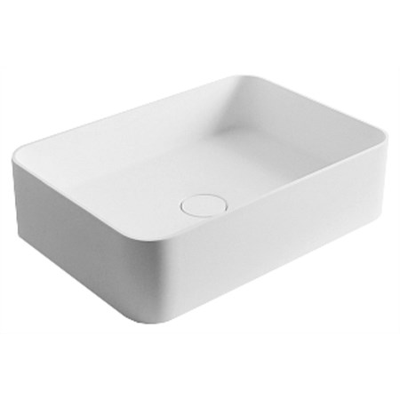 LeVivi Capri Rectangle Solid Surface Basin White