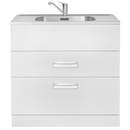 LeVivi Hub Tub 900mm Double Drawer Laundry Tub