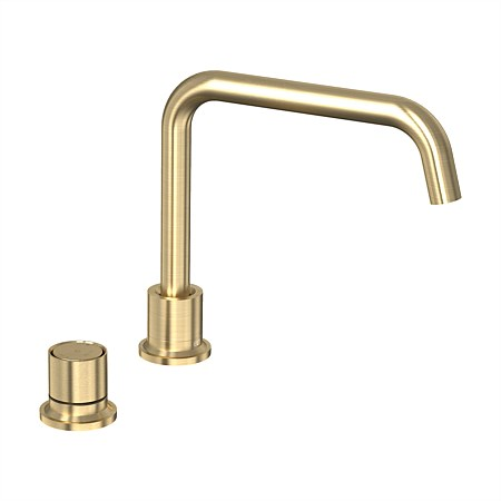 Tate Digital Deck Mounted Mixer Brushed Gold