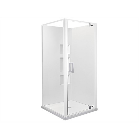 Englefield Azure II 900mm 2 Sided Recessed Wall Square Shower Enclosure