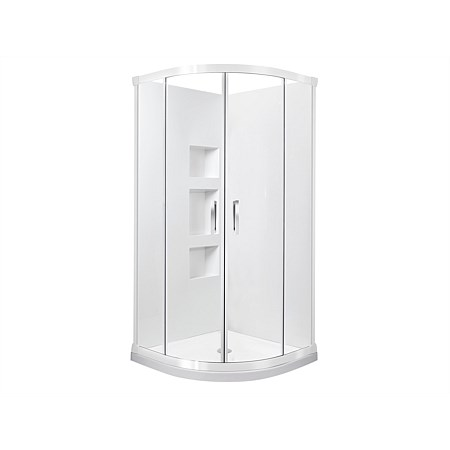 Englefield Azure II 900mm 2 Sided Recessed Wall Round Shower Enclosure