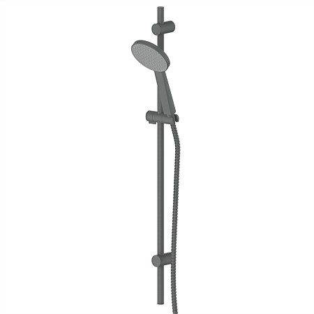 Greens Glide Rainboost Adjustable Rail Shower Gunmetal