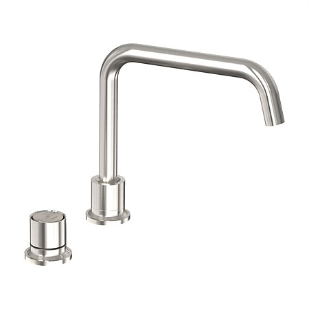 Felton Tate Digital Deck Mounted Mixer Brushed Nickel