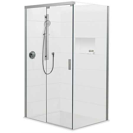 Brenner 1000mm RH 2 Wall Prefinished Base Shower Package
