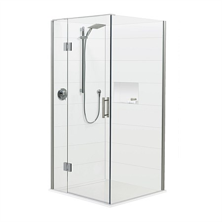 Brenner 900mm LH 2 Wall Prefinished Base Shower Package