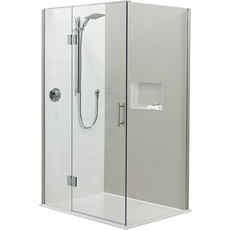 Brenner 1400mm 2 Wall LH Prefinished Base Shower Package