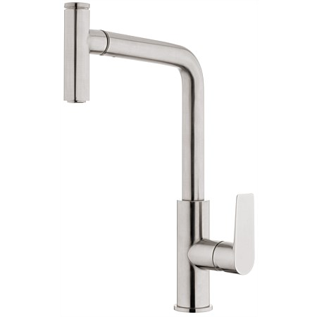 Voda Olympia High Rise Pullout Sink Mixer Brushed Nickel