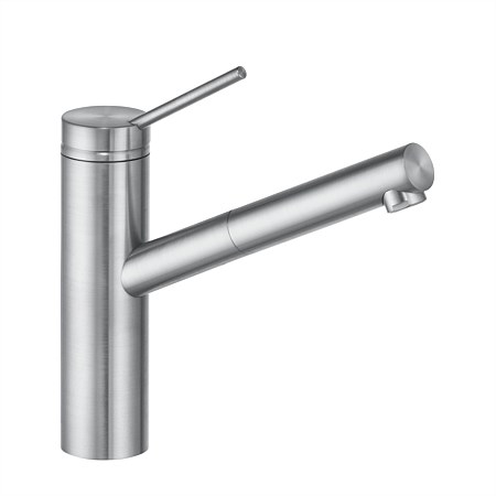 Kludi Tangenta Pullout Sink Mixer Stainless Steel