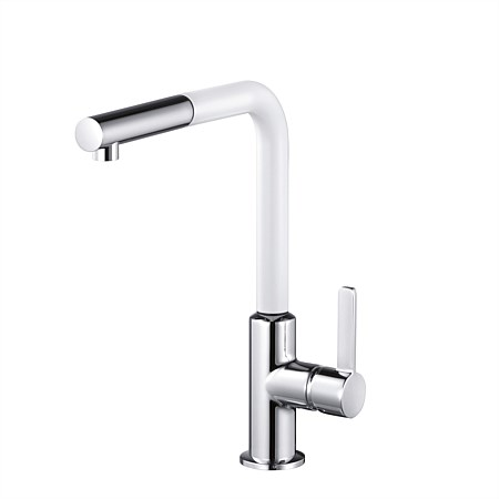 Kludi L-INE S Sink Pullout Sink Mixer White & Chrome