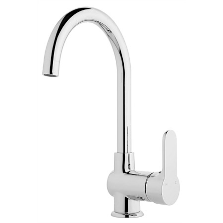 Voda Hi Rise Goose Neck Sink Mixer Chrome