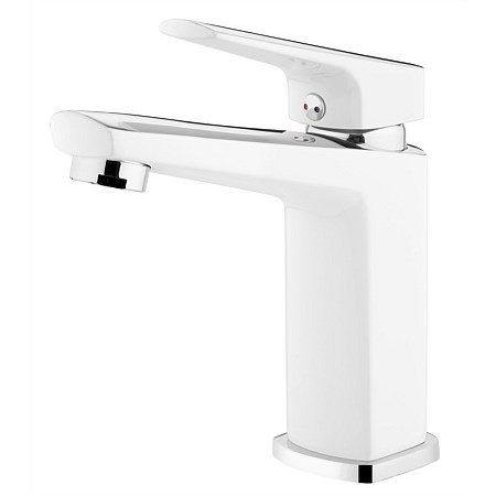 Voda Eclipse Basin Mixer White/Chrome