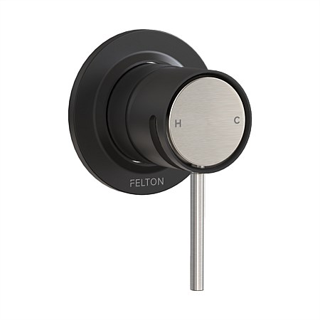 Felton Tate Shower Mixer Matte Black/Brushed Nickel