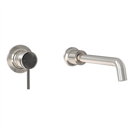 Felton Tate Wall Mounted Basin/Bath Mixer Brushed Nickel/Brushed Gunmetal