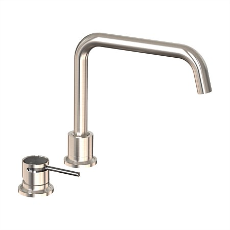 Felton Tate Deck Mounted Sink Mixer Brushed Nickel/Brushed Gunmetal