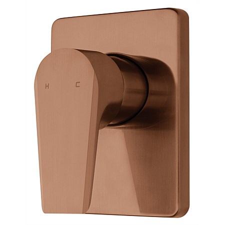 Voda Olympia Vortex Shower Mixer Brushed Copper